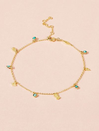 Nati Anklet - Turquoise