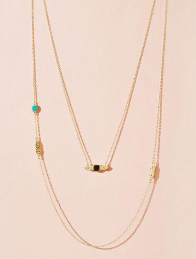 Collier Nati - Turquoise et Onyx Texturé
