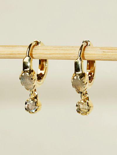 Boucles d'oreilles Safra - Labradorite
