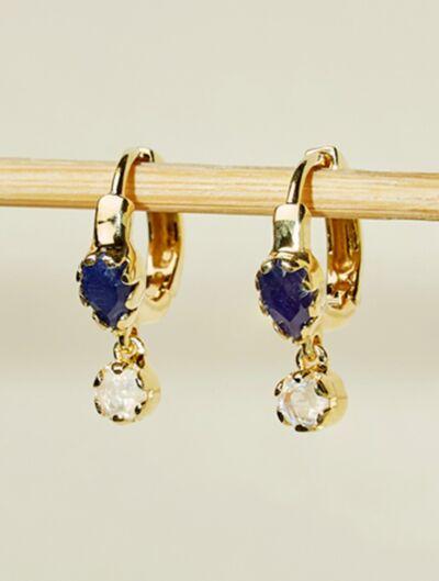 Safra Earrings - Saphirre and Moonstone