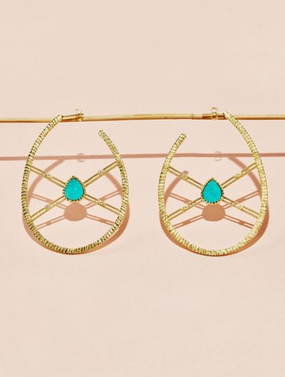 Oma Earrings - Turquoise