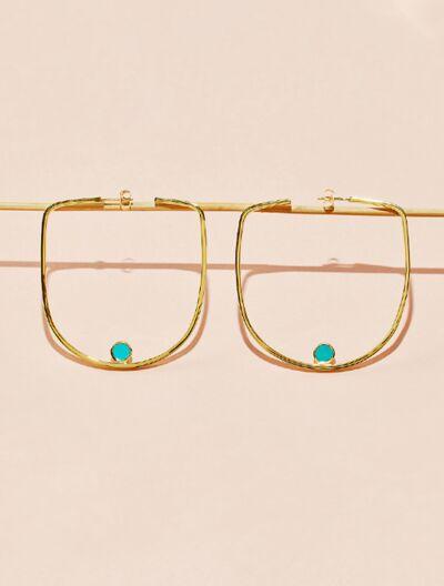 Roka Earrings - Turquoise