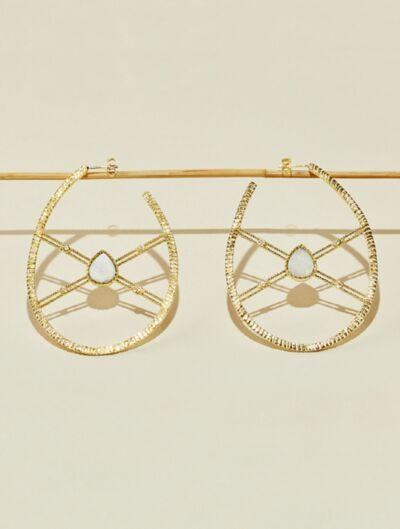 Oma Earrings - Moonstone