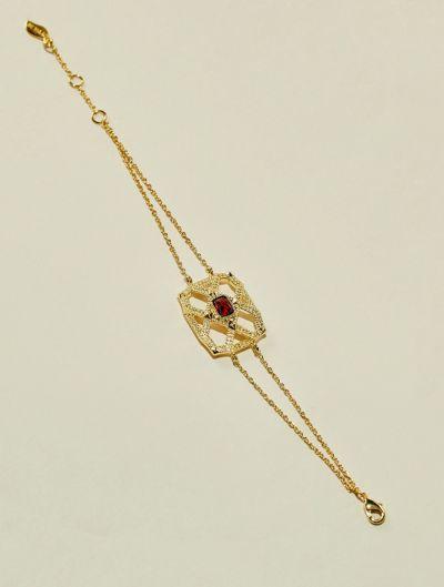 Saba Bracelet - Garnet