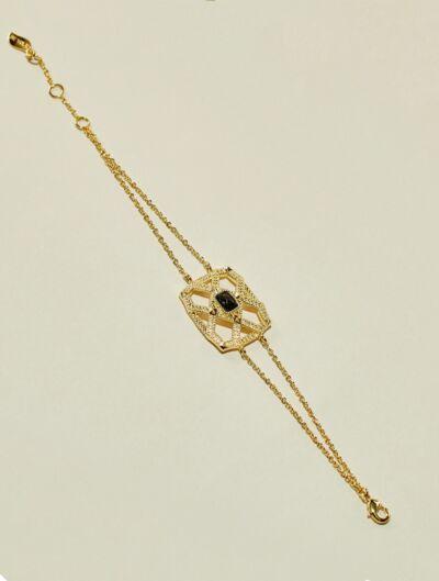 Saba Bracelet - Textured Onyx