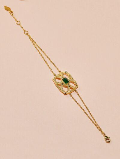 Saba Bracelet - Green Onyx