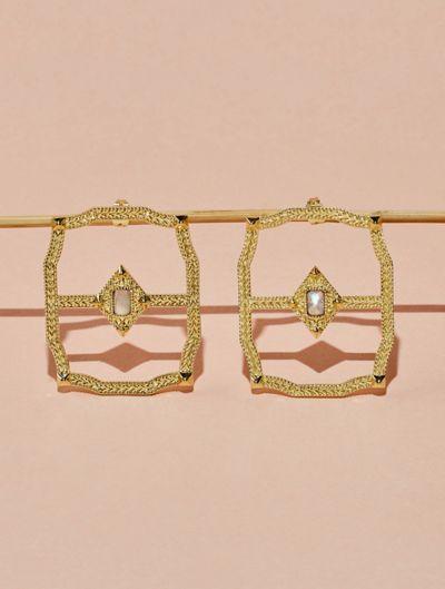 Saba Earrings - Moonstone
