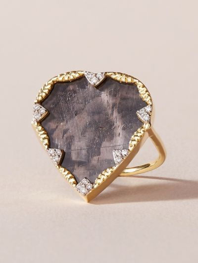Lima Ring - Textured Onyx