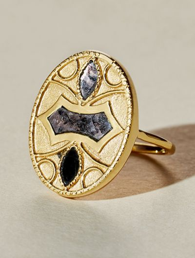Marala Ring - Textured Onyx