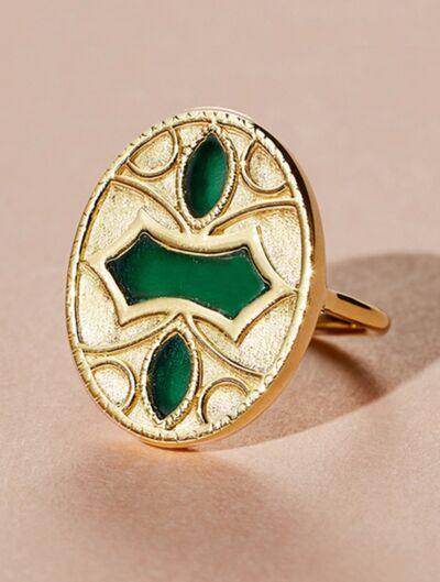Marala Ring - Green Onyx