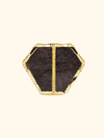 Nemara Ring - Textured Onyx