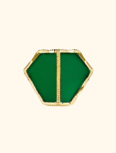 Nemara Ring - Green Onyx