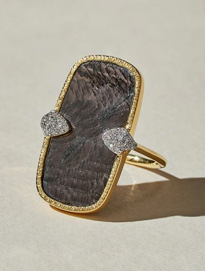 Sangha Ring - Textured Onyx