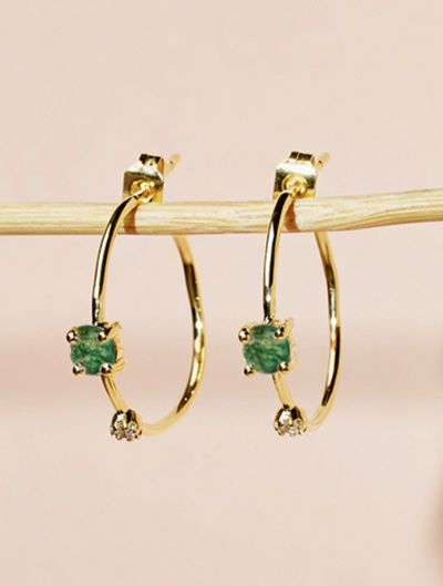 Galia Earrings - Aventurine