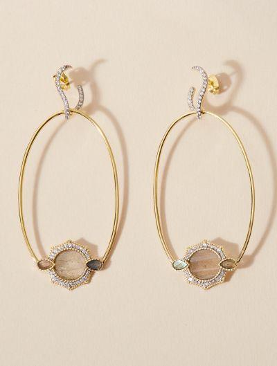 Boucles d'oreilles Janih - Labradorite