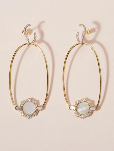 Janih Earrings - Mother of Pearl