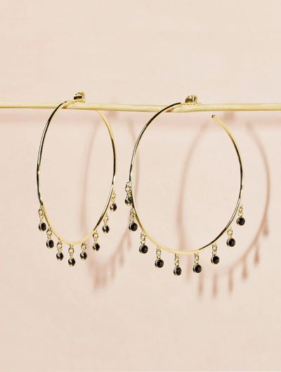 Kali Earrings - Black Zircon