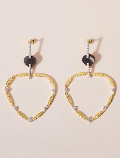 Boucles d'oreilles Lima - Onyx Texturé