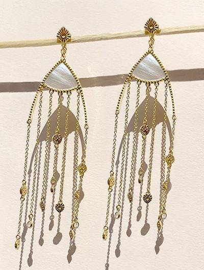 Boucles d'oreilles Mina - Nacre