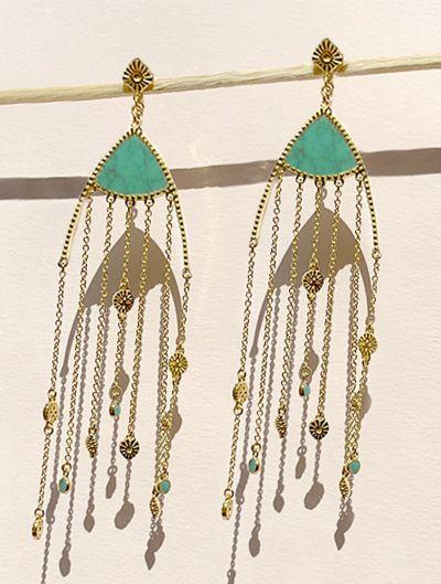 Mina Earrings - Turquoise
