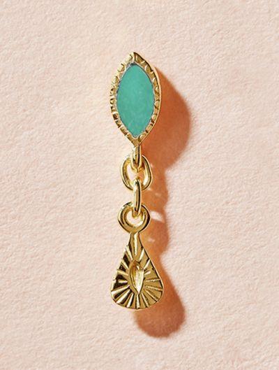Mono boucle d'oreille Nala - Turquoise