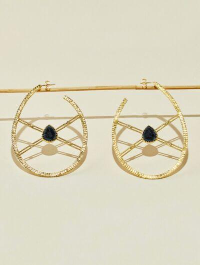 Boucles d'oreilles Oma - Onyx Texturé