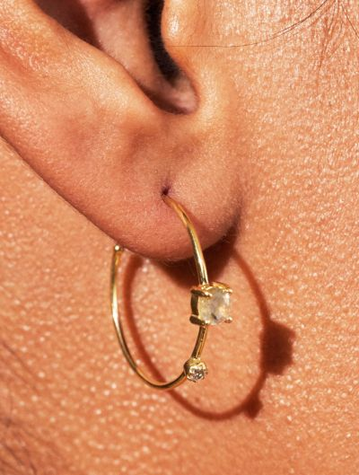 Boucles d'oreilles Galia - Labradorite
