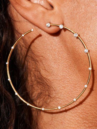 Boucles d'oreilles Jamini - Zircons Blancs