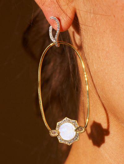 Janih Earrings - Moonstone