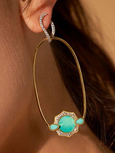Janih Earrings - Turquoise