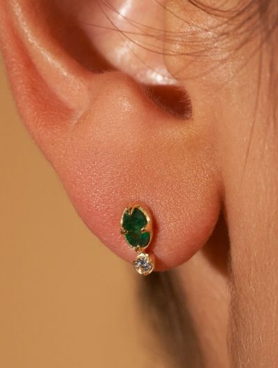 Boucles d'oreilles Mani - Aventurine