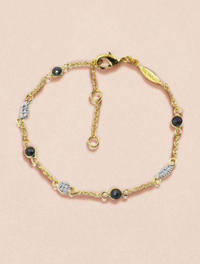 Sitara Bracelet - Black Zircons