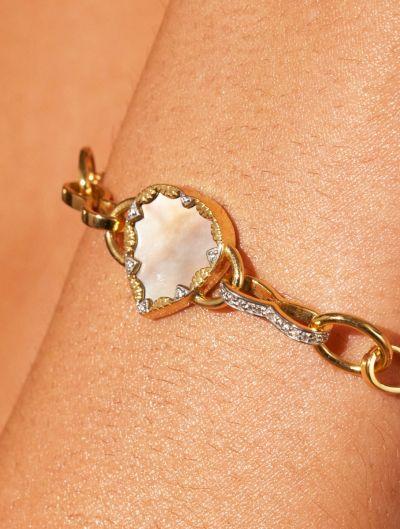 Bracelet Lima - Nacre Rose