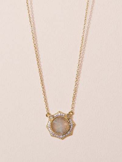 Janih Necklace - Moonstone