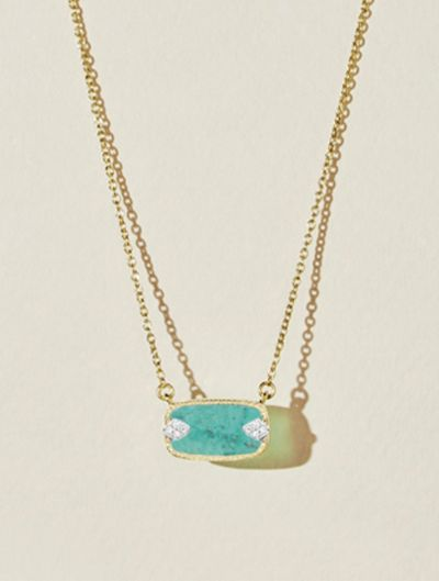 Collier Sangha - Turquoise