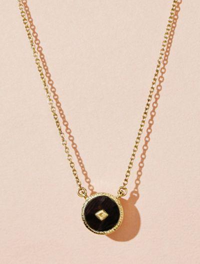 Sanja Necklace - Textured Onyx