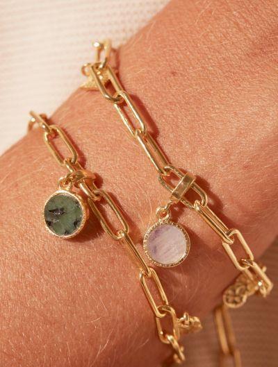 Bracelet Arya - Nacre et Emeraude