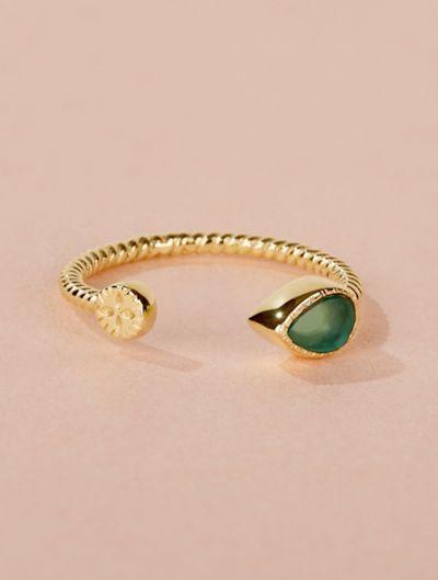 Bali Ring - Green Onyx
