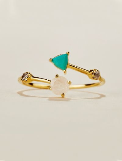 Galia Ring - Turquoise and Moonstone