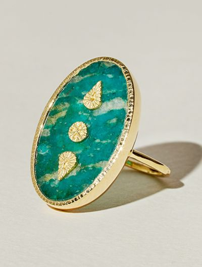 Bague Lana - Amazonite
