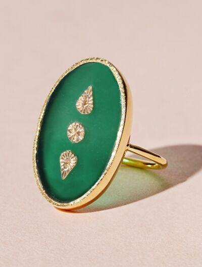Lana Ring - Green Onyx