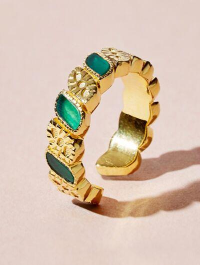 Mali Ring - Green Onyx