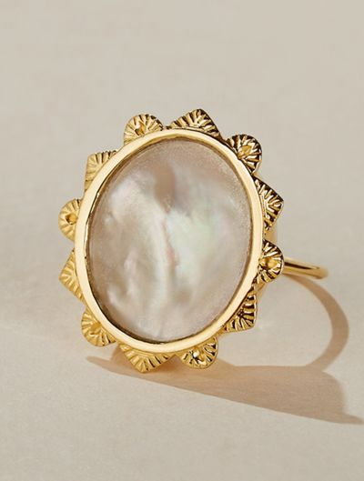 Malka Ring - Mother of Pearl