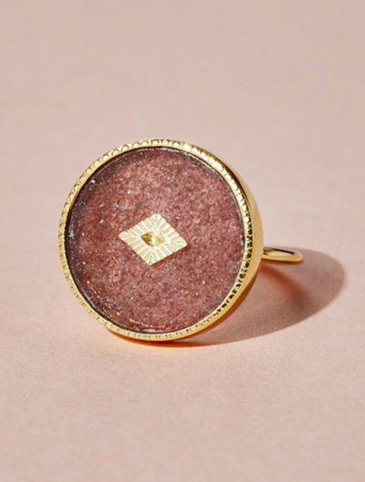Sanja Ring - Strawberry Quartz