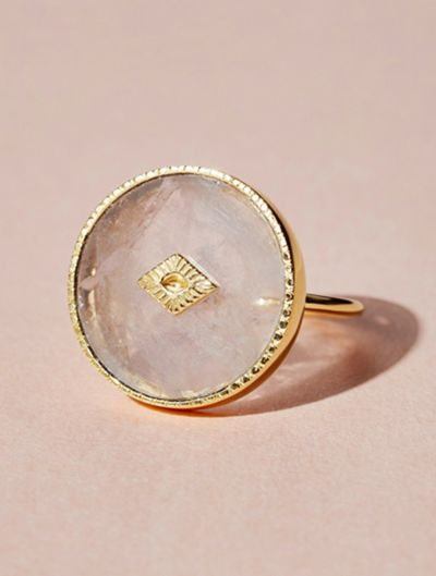 Bague Sanja - Quartz Rose