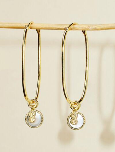 Boucles d'oreilles Arya - Nacre