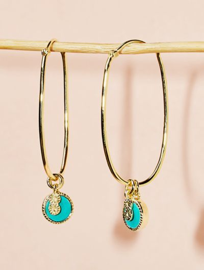 Boucles d'oreilles Arya - Turquoise