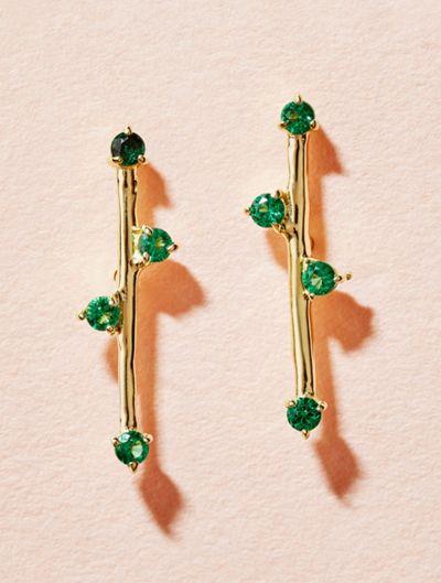 Boucles d'oreilles Delia - Zircons Verts