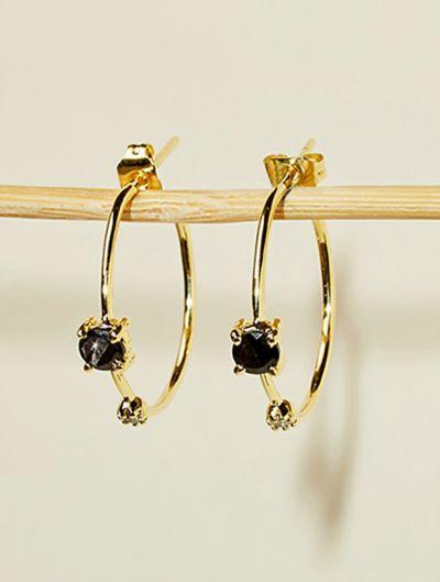 Boucles d'oreilles Galia - Onyx Texturé
