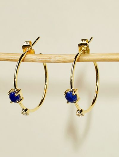 Boucles d'oreilles Galia - Saphir